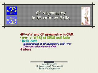 CP Asymmetry in B 0 ->? + ? �  at Belle