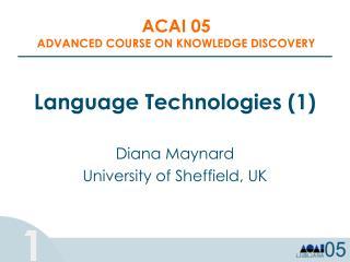 Language Technologies (1)