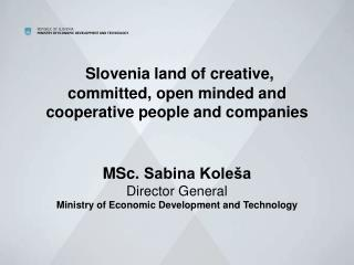 Competitive position of the Slovenian industry