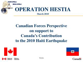 OPERATION HESTIA March 2010