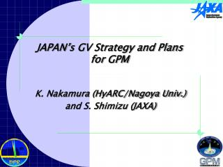 JAPAN's GV Strategy and Plans  for GPM