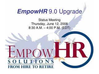 EmpowHR  9.0 Upgrade