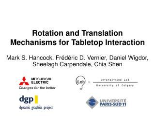 Rotation and Translation Mechanisms for Tabletop Interaction