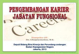 Disampaikan oleh : Drs. S.Kuspriyomurdono, M.Si.