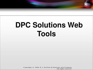 D DPC Solutions Web Tools