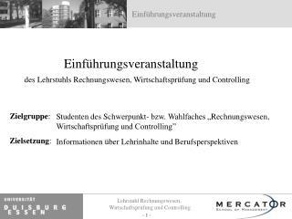Informationen über Lehrinhalte und Berufsperspektiven