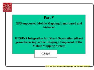 Part V GPS-supported Mobile Mapping Land-based and Airborne