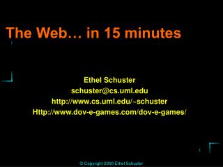 The Web… in 15 minutes