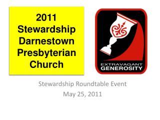 2011 Stewardship  Darnestown Presbyterian Church