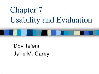 Chapter 7  Usability and Evaluation