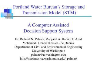 Dr. Richard N. Palmer, Margaret A. Hahn, Dr. Azad Mohamadi, Dennis Kessler, Joe Dvorak
