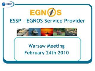 ESSP – EGNOS Service Provider
