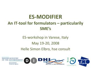 ES-MODIFIER An  IT-tool  for  formulators  –  particularily SME's