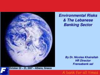Environmental Risks & The Lebanese Banking Sector