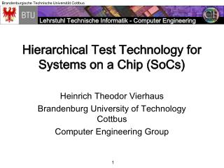 Hierarchical Test Technology for Systems on a Chip (SoCs)