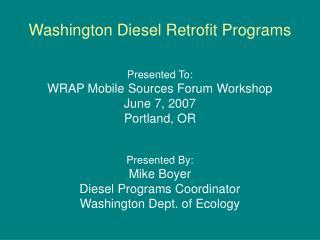 Washington Diesel Retrofit Programs