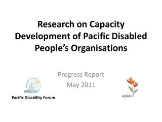 Research on Capacity Development of Pacific Disabled People's Organisations