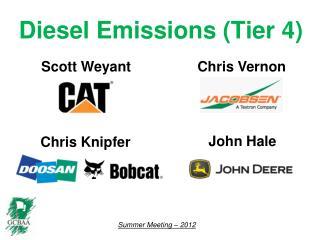 Diesel Emissions (Tier 4)