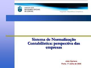 Sistema de Normalização Contabilística: perspectiva das empresas