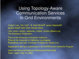 Using Topology-Aware Communication Services in Grid Environments
