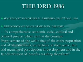 THE DRD 1986