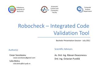 Robocheck – Integrated Code Validation Tool