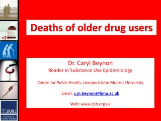 Deaths of older drug users