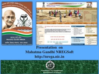 Presentation  on  Mahatma Gandhi  NREGSoft nrega.nic