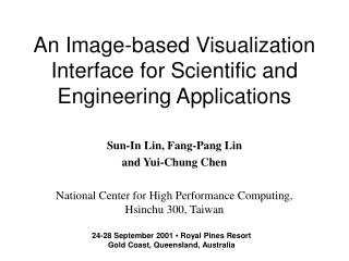 An Image-based Visualization Interface for Scientific and Engineering Applications