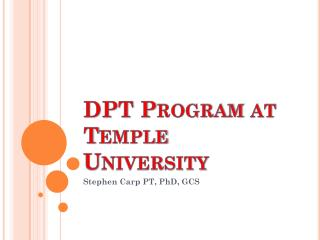 DPT Program at Temple University