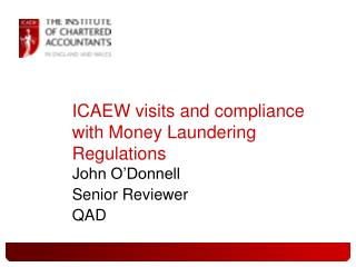 ICAEW visits and compliance with Money Laundering Regulations