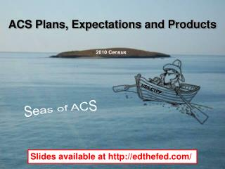 ACS Plans, Expectations and Products