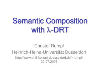 Semantic Composition  with  l -DRT