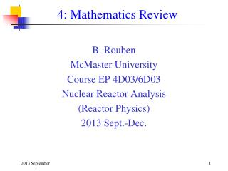 4: Mathematics Review