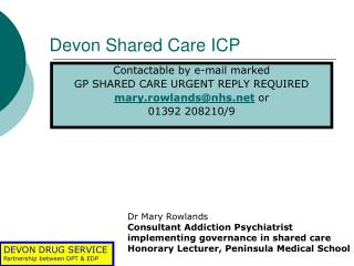 Devon Shared Care ICP