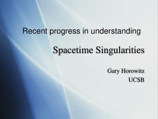 Spacetime Singularities