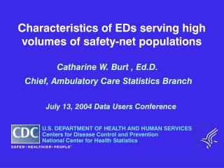 Characteristics of EDs serving high volumes of safety-net populations