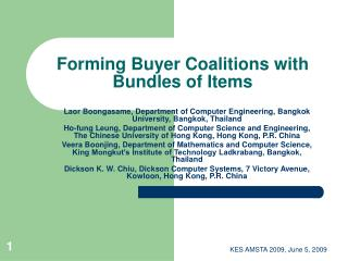 Forming Buyer Coalitions with Bundles of Items