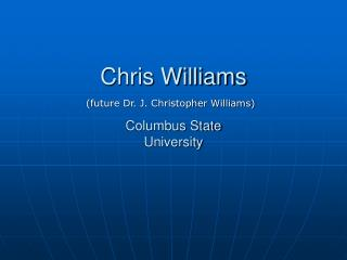 Chris Williams Columbus State University