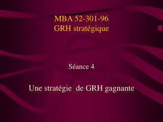 MBA 52-301-96 GRH strat�gique
