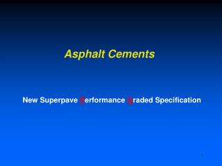 Asphalt Cements