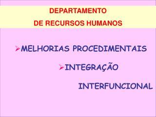 DEPARTAMENTO  DE RECURSOS HUMANOS