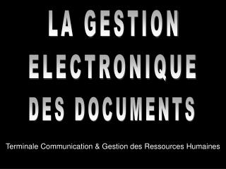 Terminale Communication & Gestion des Ressources Humaines