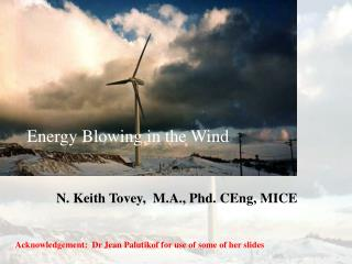 Energy Blowing in the Wind