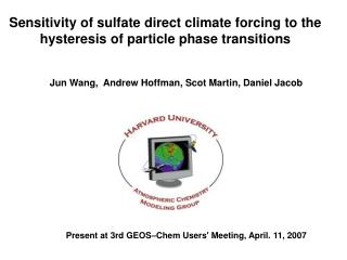 Sensitivity of sulfate direct climate forcing to the hysteresis of particle phase transitions