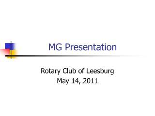 MG Presentation