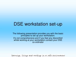 DSE workstation set-up