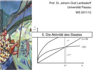 Prof. Dr. Johann Graf Lambsdorff Universität Passau WS 2011/12