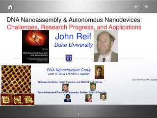 DNA Nanoassembly & Autonomous Nanodevices:  Challenges, Research Progress, and Applications