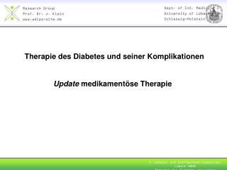 Therapie des Diabetes und seiner Komplikationen